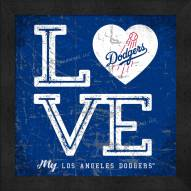 Los Angeles Dodgers Love My Team Color Wall Decor