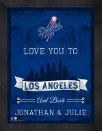 Los Angeles Dodgers Love You to and Back Framed Print