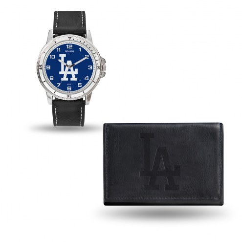 Los Angeles Dodgers Men's Chicago Watch & Wallet Set