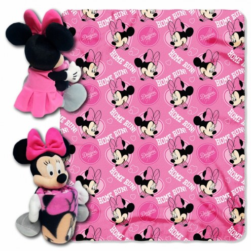 Los Angeles Dodgers Minnie Mouse Throw Blanket