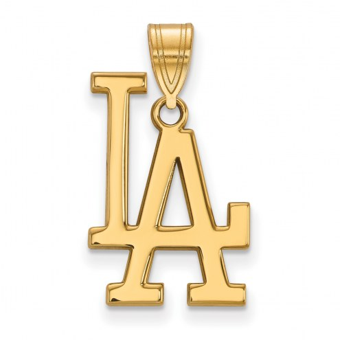 Los Angeles Dodgers MLB Sterling Silver Gold Plated Large Pendant