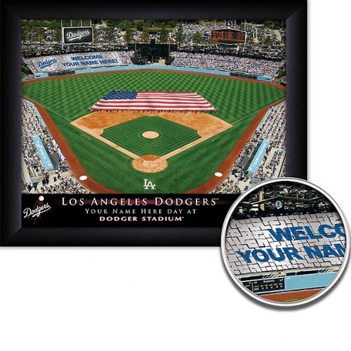 Los Angeles Dodgers 11 x 14 Personalized Framed Stadium Print