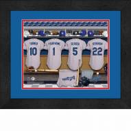 Los Angeles Dodgers Personalized Locker Room 13 x 16 Framed Photograph
