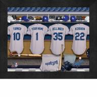 Los Angeles Dodgers Personalized Locker Room 11 x 14 Framed Photograph