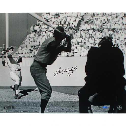 """Los Angeles Dodgers Sandy Koufax WS Pitching Signed 16"""" x 20"""" Photo"""