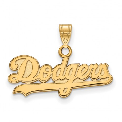 Los Angeles Dodgers Sterling Silver Gold Plated Small Pendant