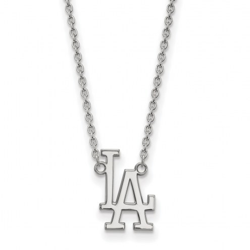 Los Angeles Dodgers Sterling Silver Large Pendant Necklace