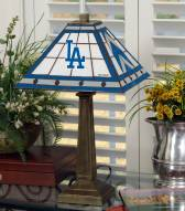 Los Angeles Dodgers Stained Glass Mission Table Lamp