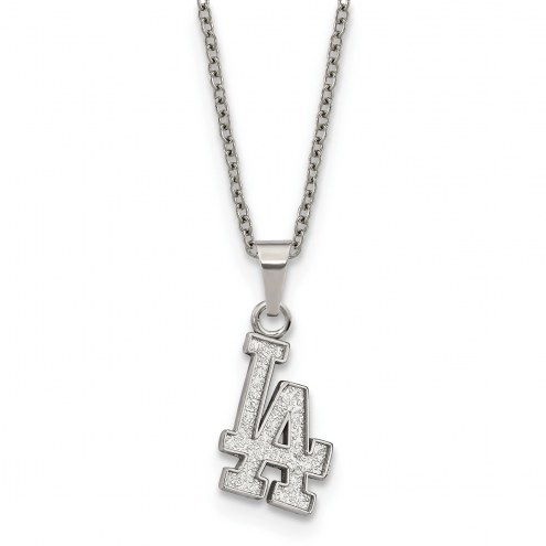 Los Angeles Dodgers Stainless Steel Pendant Necklace