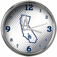 Los Angeles Dodgers State of Mind Chrome Clock