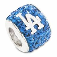 Los Angeles Dodgers Sterling Silver Charm Bead