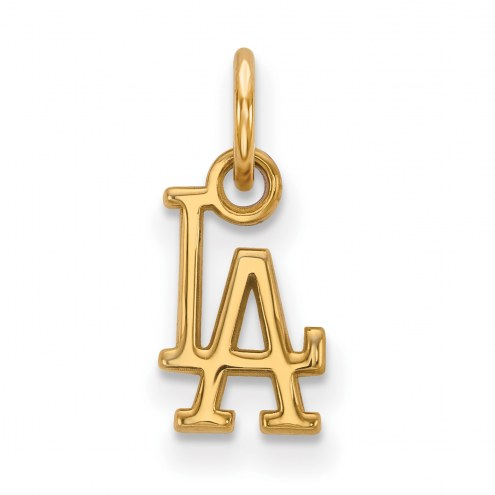 Los Angeles Dodgers Sterling Silver Gold Plated Extra Small Pendant