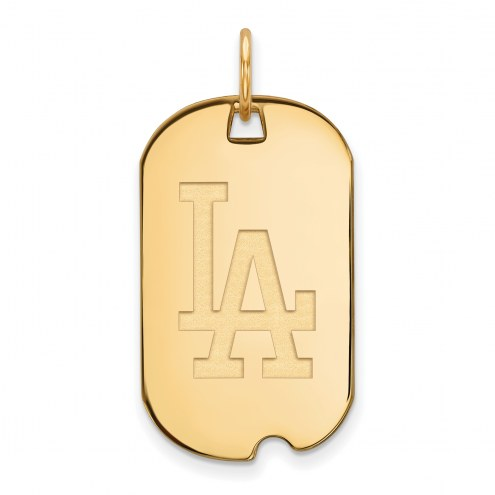 Los Angeles Dodgers Sterling Silver Gold Plated Small Dog Tag