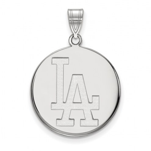Los Angeles Dodgers Sterling Silver Large Disc Pendant