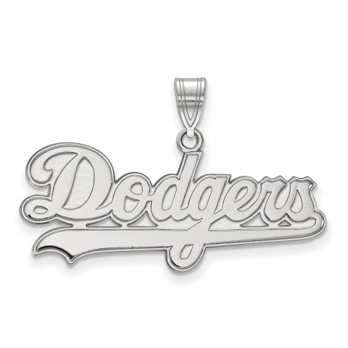 Los Angeles Dodgers Sterling Silver Large Pendant