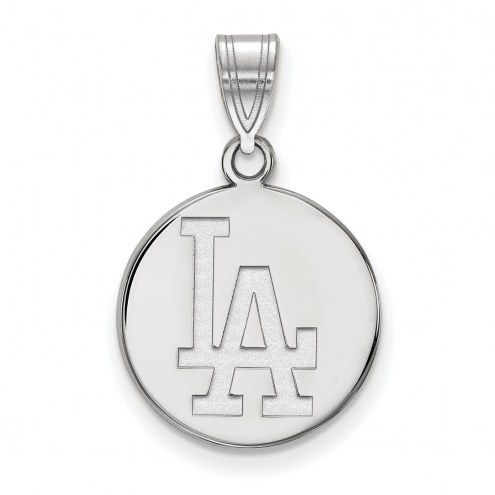 Los Angeles Dodgers Sterling Silver Medium Disc Pendant
