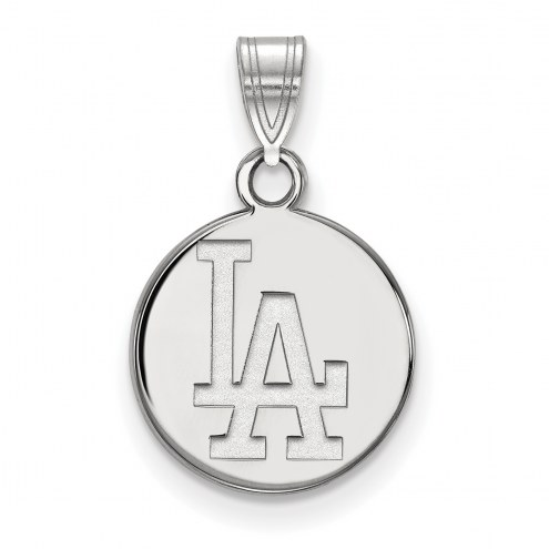 Los Angeles Dodgers Sterling Silver Small Disc Pendant
