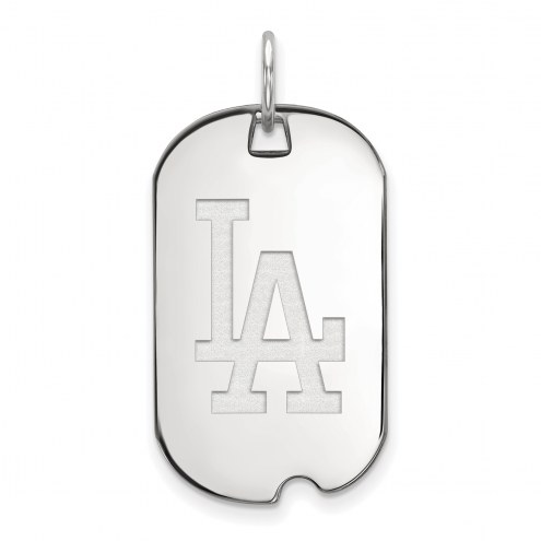 Los Angeles Dodgers Sterling Silver Small Dog Tag