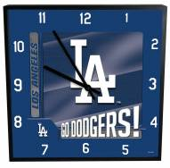 Los Angeles Dodgers Team Black Square Clock