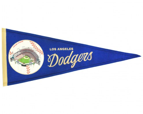 Los Angeles Dodgers Vintage Ballpark Traditions Pennant