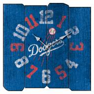 Los Angeles Dodgers Vintage Square Clock