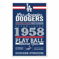 Los Angeles Dodgers Established Wood Sign