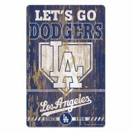 Los Angeles Dodgers Slogan Wood Sign
