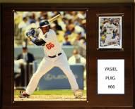 "Los Angeles Dodgers Yasiel Puig 12"" x 15"" Player Plaque"