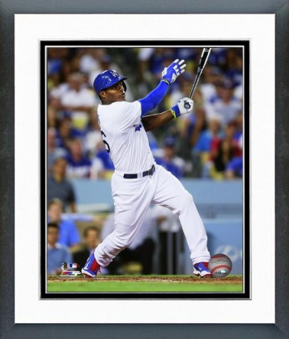 Los Angeles Dodgers Yasiel Puig Action Framed Photo