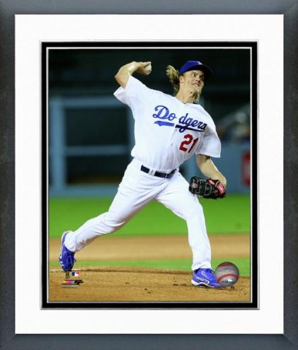 Los Angeles Dodgers Zack Greinke Action Framed Photo