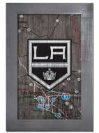 """Los Angeles Kings 11"""" x 19"""" City Map Framed Sign"""