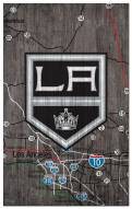 """Los Angeles Kings 11"""" x 19"""" City Map Sign"""