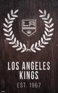 """Los Angeles Kings 11"""" x 19"""" Laurel Wreath Sign"""