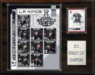 """Los Angeles Kings 12"""" x 15"""" 2012 Stanley Cup Champions Plaque"""