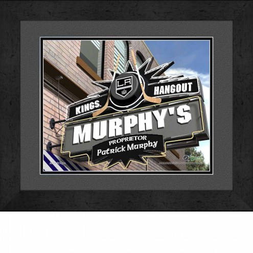 Los Angeles Kings 13 x 16 Personalized Framed Sports Pub Print