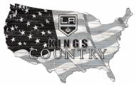 "Los Angeles Kings 15"" USA Flag Cutout Sign"