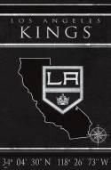 "Los Angeles Kings 17"" x 26"" Coordinates Sign"