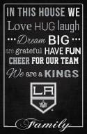 """Los Angeles Kings 17"""" x 26"""" In This House Sign"""