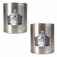Los Angeles Kings 2-Piece Stainless Steel Can Koozie Set - Primary Logo