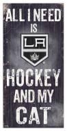 "Los Angeles Kings 6"" x 12"" Hockey & My Cat Sign"