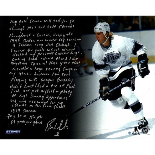 "Los Angeles Kings Bernie Nicholls ""1988-1989 Season"" Story Signed 16"" x 20"" Photo"