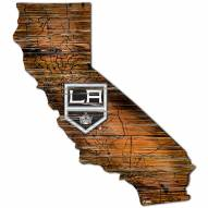 Los Angeles Kings Distressed State with Logo Sign