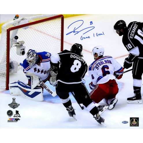 """Los Angeles Kings Drew Doughty 2014 Stanley Cup Scoring Goal w/ Game 1 Goal"""" Signed 16"""" x 20"""" Photo"""