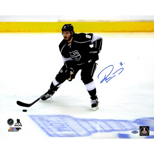 """Los Angeles Kings Drew Doughty Skating by 2014 Stanley Cup Logo Signed 16"""" x 20"""" Photo"""
