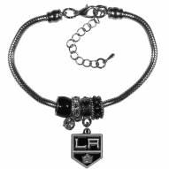 Los Angeles Kings Euro Bead Bracelet
