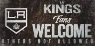 Los Angeles Kings Fans Welcome Sign