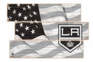 Los Angeles Kings Flag 3 Plank Sign