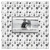 """Los Angeles Kings Floral Pattern 10"""" x 10"""" Picture Frame"""