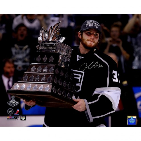 "Los Angeles Kings Jonathan Quick Conn Smythe Trophy Horizontal Signed 16"" x 20"" Photo"