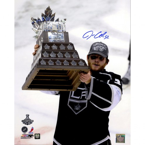 "Los Angeles Kings Jonathan Quick Conn Smythe Trophy Vertical Signed 16"" x 20"" Photo"